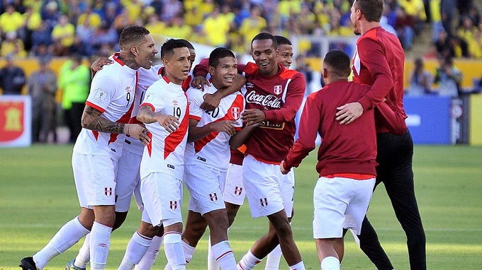 Peru vs Newzeland in world cup
