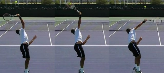 How to make a topspin serve in tennis