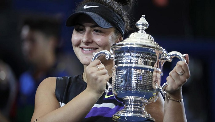 Medal winners with all the US Open tennis champions